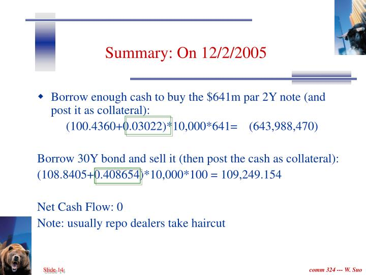 Summary: On 12/2/2005