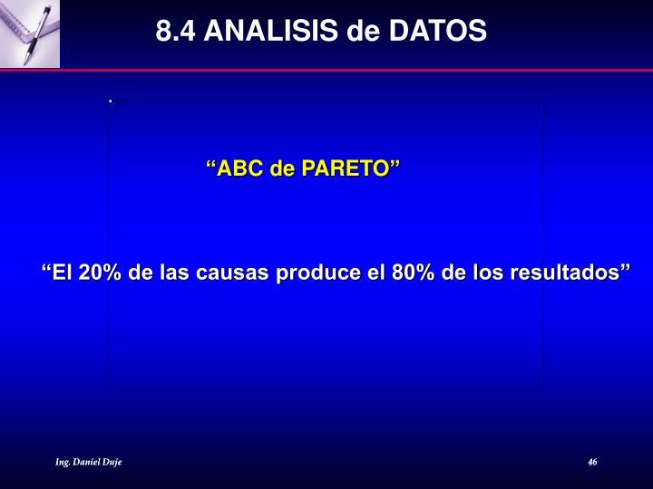 8.4 ANALISIS de DATOS