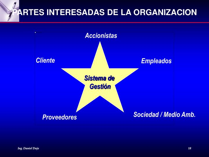 PARTES INTERESADAS DE