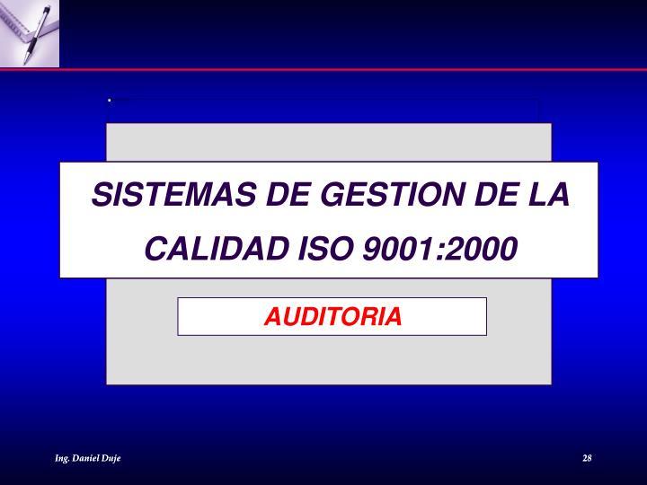 SISTEMAS DE GESTION DE LA CALIDAD ISO 9001:2000