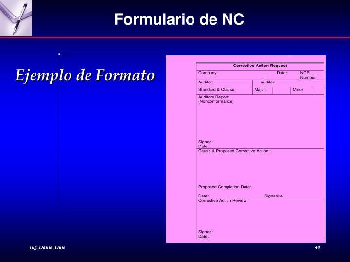 Formulario de NC