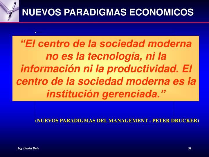NUEVOS PARADIGMAS ECONOMICOS