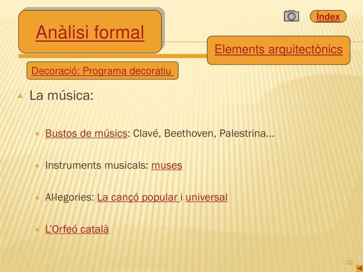 La música: