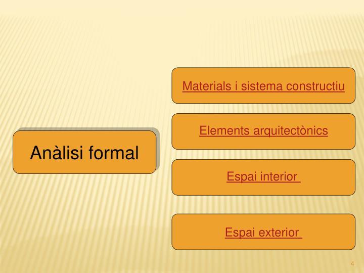 Materials i sistema constructiu