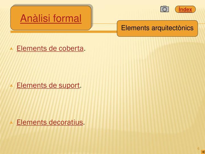 Elements de coberta