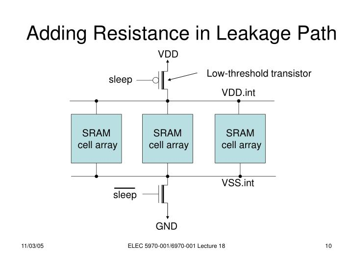 Adding Resistance in Leakage Path