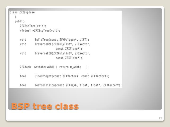 BSP tree class