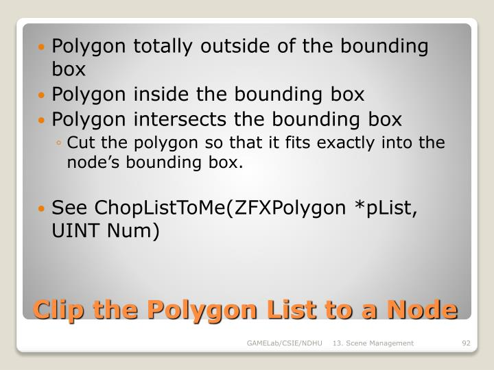 Polygon totally outside of the bounding box