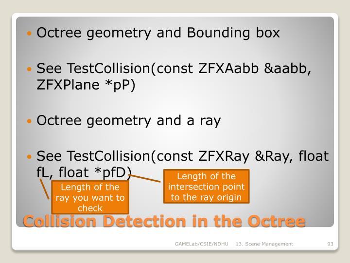 Octree geometry and Bounding box