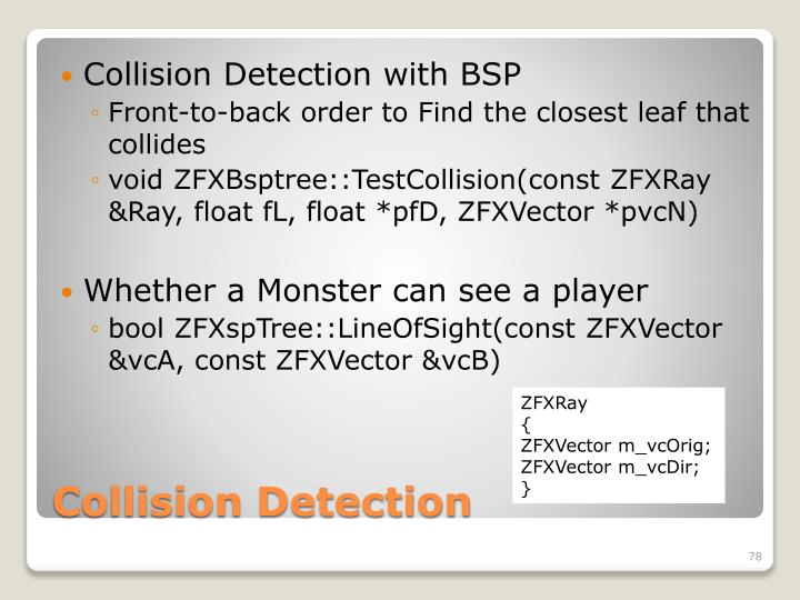 Collision Detection with BSP