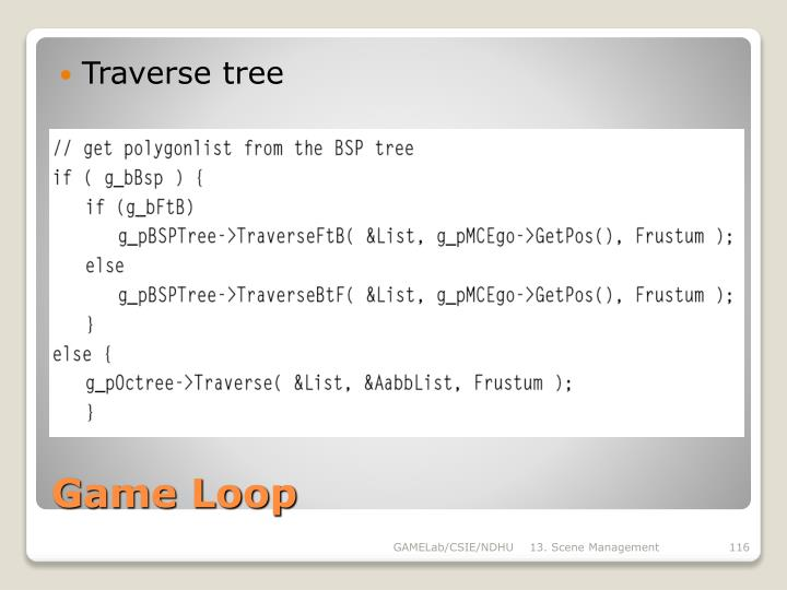 Traverse tree