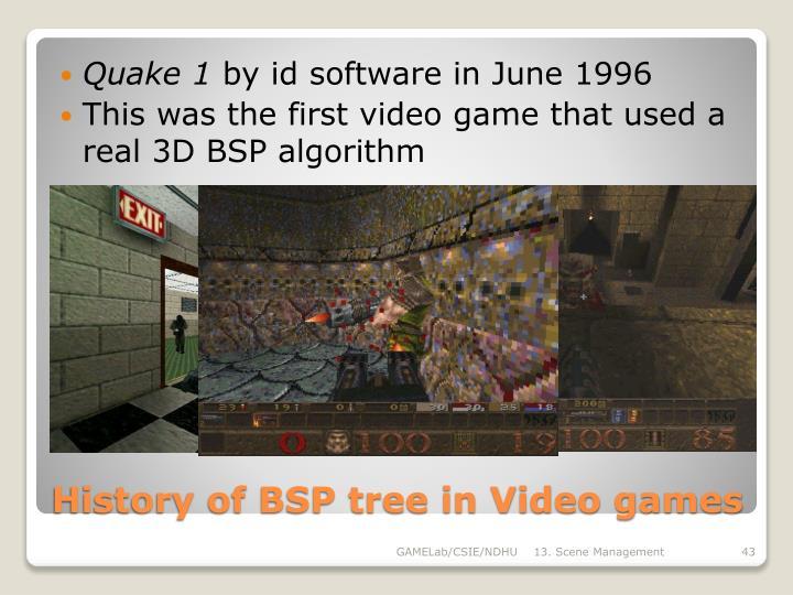History of BSP tree in Video games