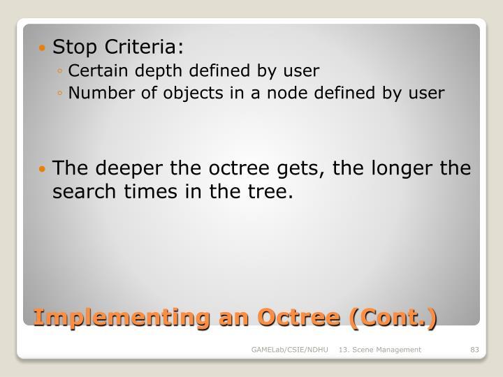 Stop Criteria: