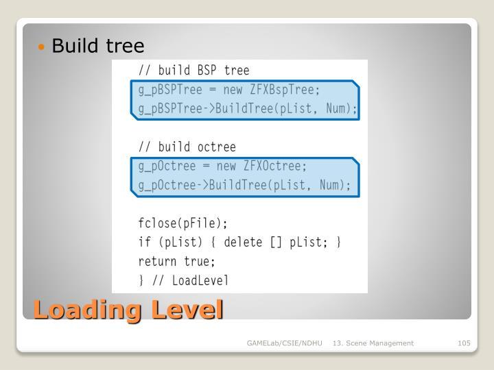 Build tree