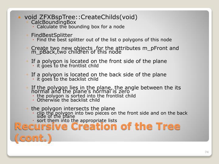 void ZFXBspTree::CreateChilds(void)