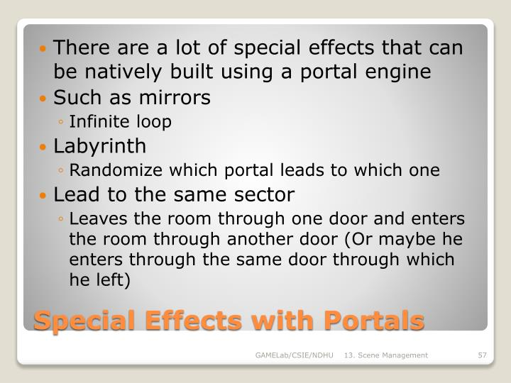 Special Effects with Portals