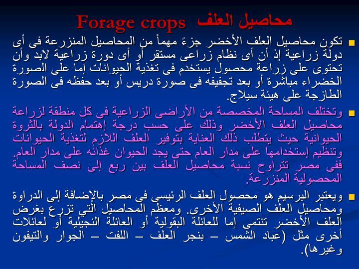 محاصيل العلف