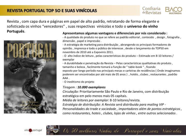 REVISTA PORTUGAL TOP 5O E SUAS VINÍCOLAS