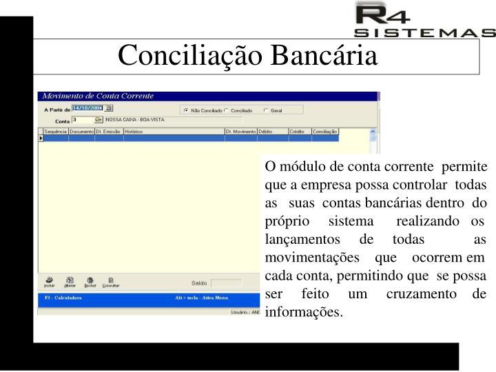 Conciliação Bancária