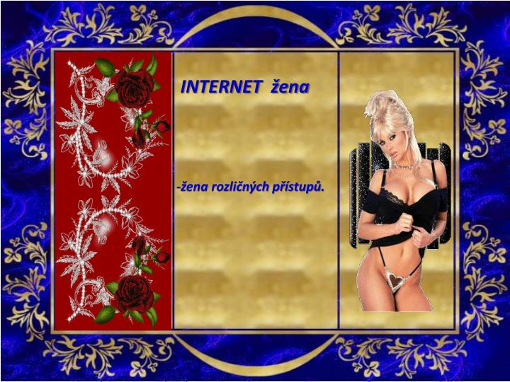 INTERNET  žena