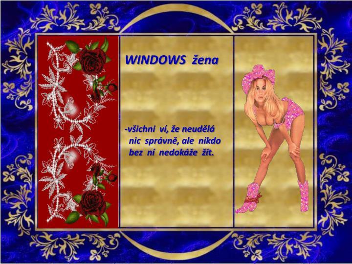 WINDOWS  žena