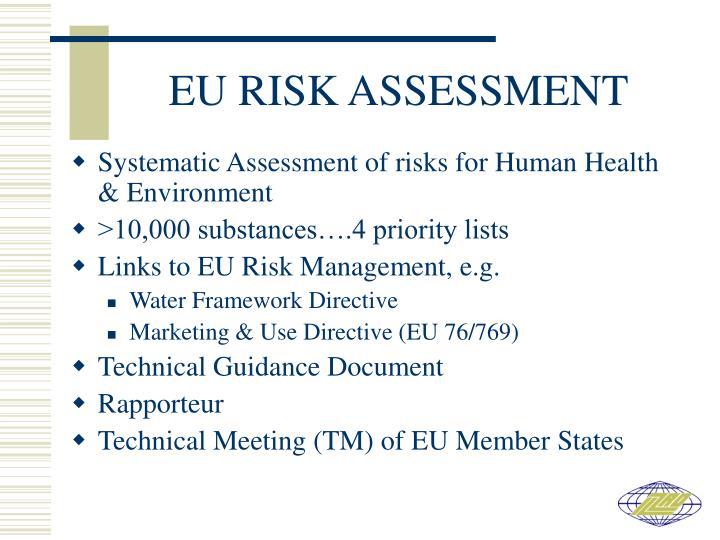 EU RISK ASSESSMENT