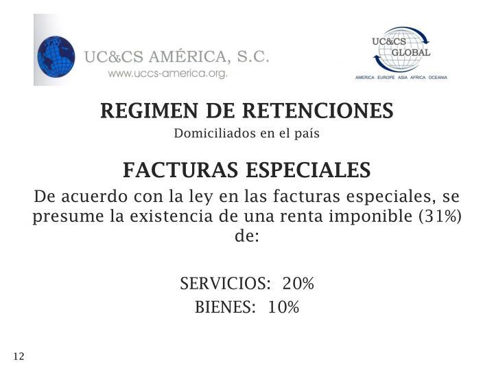 REGIMEN DE RETENCIONES