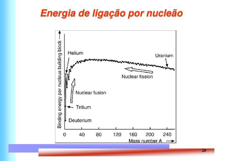 Energia de ligação por nucleão