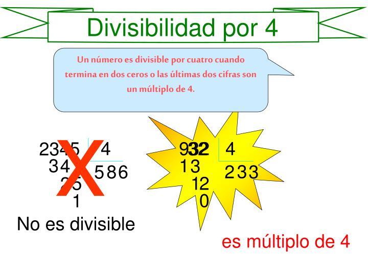 Divisibilidad por 4