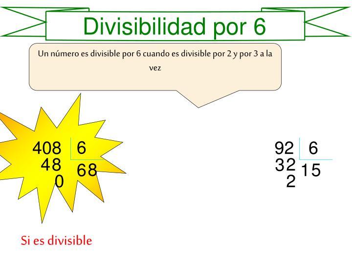 Divisibilidad por 6