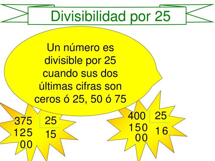 Divisibilidad por 25
