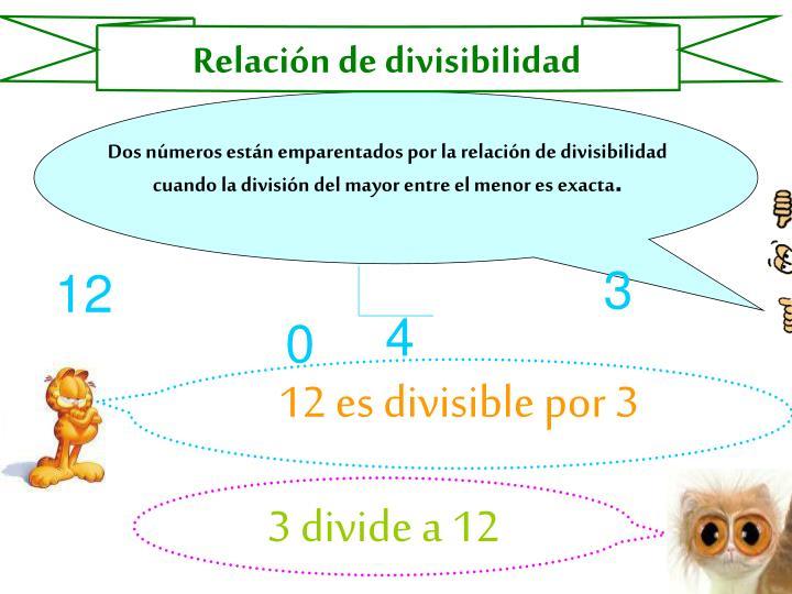 Relación de divisibilidad
