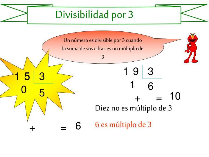 Divisibilidad por 3