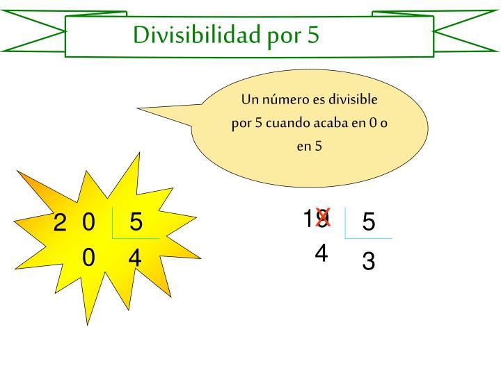 Divisibilidad por 5