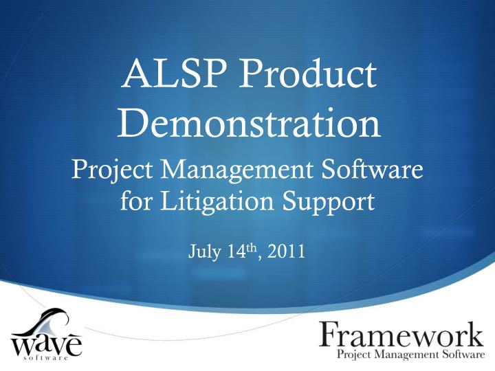 alsp product demonstration