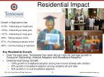 residential impact