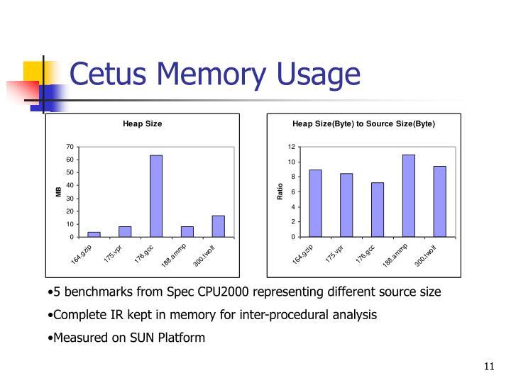 Cetus Memory Usage