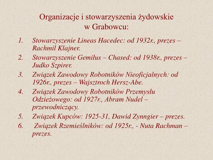Organizacje i stowarzyszenia żydowskie