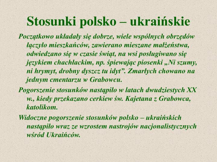 Stosunki polsko – ukraińskie