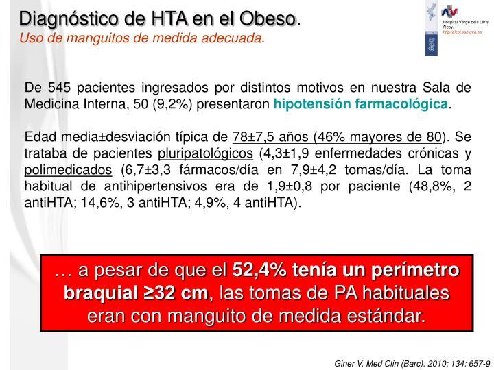 Diagnóstico de HTA en el Obeso