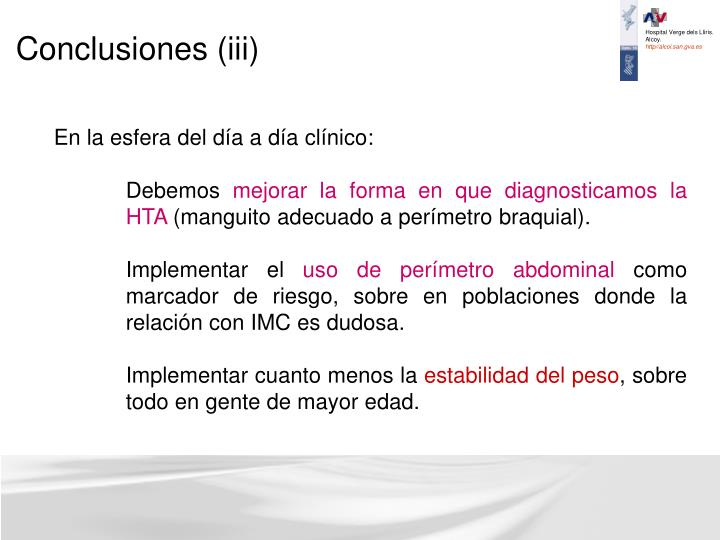 Conclusiones (iii)