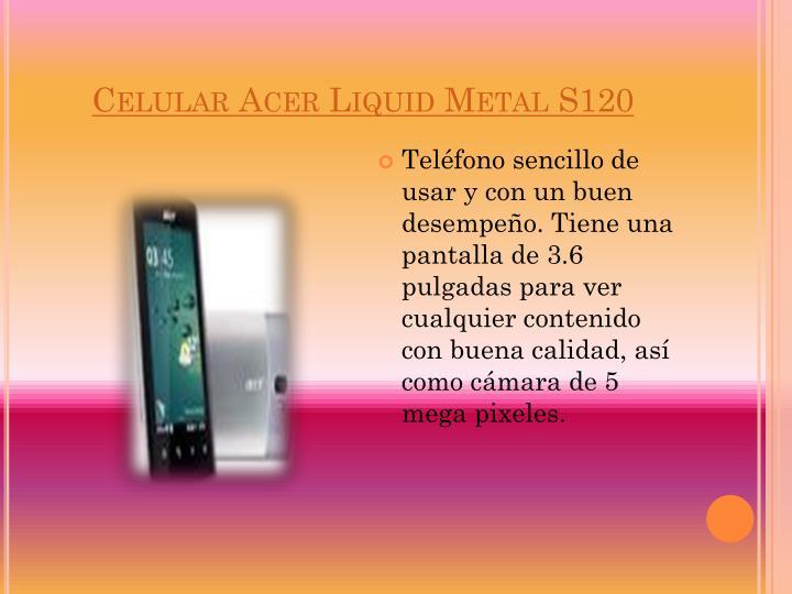 Celular Acer Liquid Metal S120