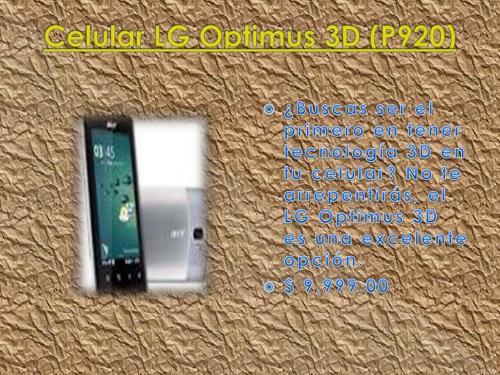 Celular LG Optimus 3D (P920)