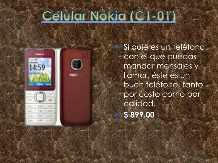 Celular Nokia (C1-01)