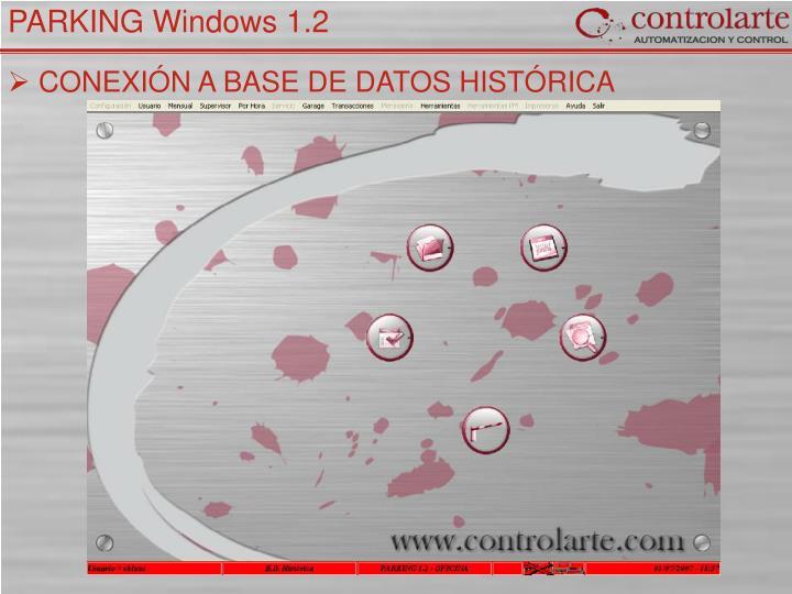 CONEXIÓN A BASE DE DATOS HISTÓRICA