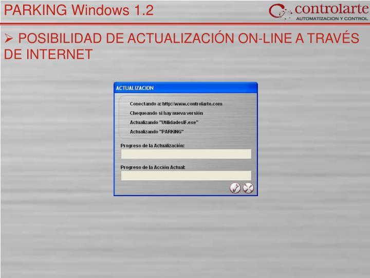 POSIBILIDAD DE ACTUALIZACIÓN ON-LINE A TRAVÉS DE INTERNET