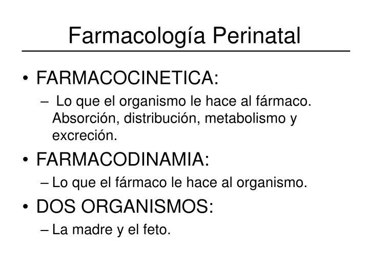 Farmacología Perinatal