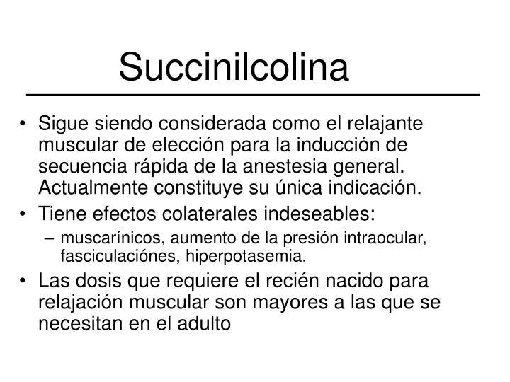 Succinilcolina