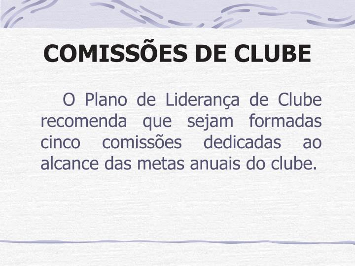 COMISSÕES DE CLUBE