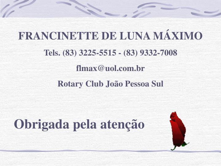 FRANCINETTE DE LUNA MÁXIMO
